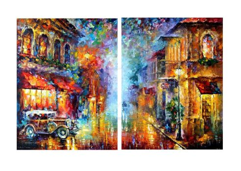 Old Vitebsk set of 2 paintings by Leonid Afremov by Leonidafremov