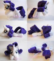 Rarity Squeaking Beanie Fan Art Plush by CatNapCaps