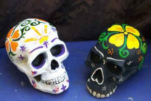 Painted Skulls by MReyna
