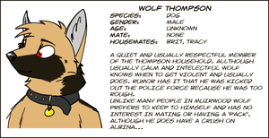 Wolf Thompson by PsychicFerret