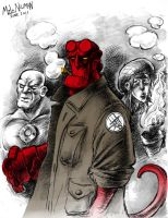 Hellboy and Gang by MiloNeuman