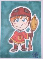 Quidditch Ron Weasely Art Card by kevinbolk