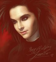 13.03 Bill Kaulitz speedpaint by harbek