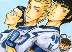[ACEO] [Eyeshield 21]#21 Oujou White Knights by layann