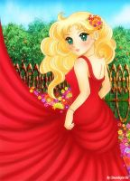 Candy Candy red dress by Duendepiecito