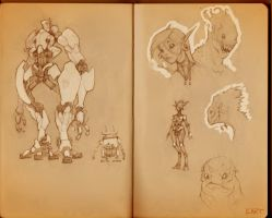 Sketchbook_Robots by Ikameka