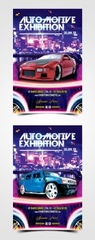 Automotive Exhibition Flyer by pascreative