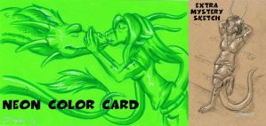 Fiverr neon color card for Marianneasteri by Zelaphas