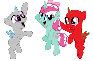 .: Mint Rose and Foals Collab :. by EpiclyAwesomePrussia