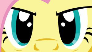 Fluttershy Glaring Wallpaper 2 by EvilDocterMcBob
