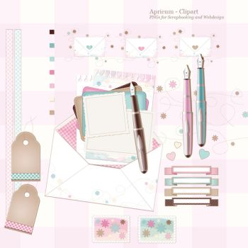 clipart collection for digital scrapbooking by apricum
