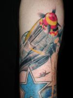 P51 Mustang Tattoo by Animal897
