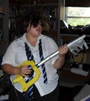 Rocking Out On A Keyblade by AmyLizMiller