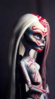 Day of Dead Sugar Skull Monster High custom doll by BarbedDragon