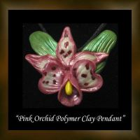 Pink Orchid Pendant by KabiDesigns