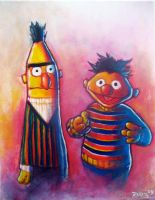 Bert and Ernie by Astro-Monkey