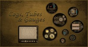 Steampunk Cogs, Tubes and Gauges for Rainmeter by Mordasius