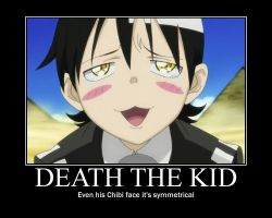 chibi death the kid poster by kyuubifan55