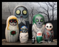 Nesting Dolls of HORROR by maddartist83