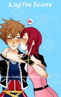 Secret Valentine: Sora and Kairi by Raidu-chan