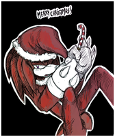knuckles- Merry Christmas by Zombie-Commissioner