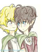 Samwise Gamee x Frodo Baggins by ThePastelHobbit