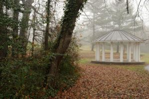 LHP: Foggy Gazebo 2 by lindowyn-stock