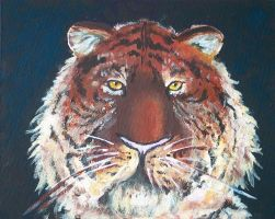Tigris Horriblis - Acrylic by denn