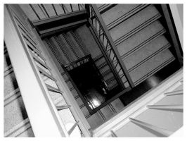 Spiral Square Stairs by Insanemoe
