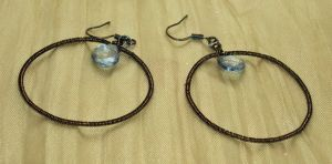 Jeweled Hoops by ACrowsCollection