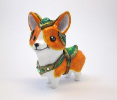 Armored Corgi Steed Figure by DragonCid