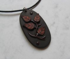Autumn Symphony polymer clay pendant by WindySunset