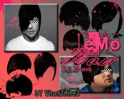 eMo-Hair Brushes by VhanZifireZ