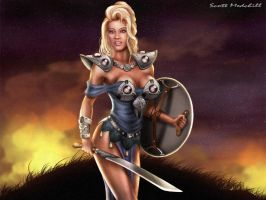 Shield Maiden by goatlord51