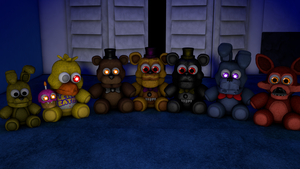 [Cinema4D] FNaF4 Plushies!! by GaboCOart
