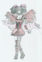 Winged Gothic Girl by Wife-Of-Legolas