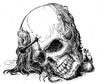 Nailed Skull by Orm-Z-Gor