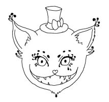 Mad Cat - Lineart by DameAjisai