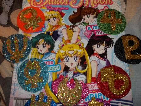 Inner Senshi hair Clips by Witch-sBrew