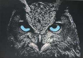 Owl Ice Version by Lirstencils