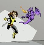 Kitty Pryde and Lockheed by BrandonPalas