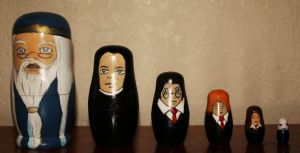Harry Potter Russian Dolls by Monklin-x