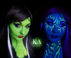 The Bride of Frankenstein - Black Light Makeup by KatieAlves