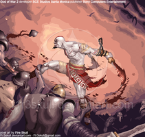 God of War PIXELED by f1r3skull