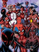 The spider-verse selfie! by ultimatejulio
