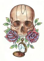 Skull n watch by Ashiwa666