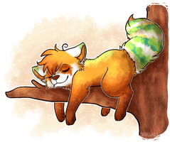 Lazy Red Panda by Star-Swirls