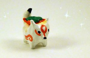 Amaterasu Mini Ookami totem by Crazy8zCharmz