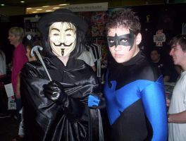 V for Vendetta meets Nightwing by batty9999