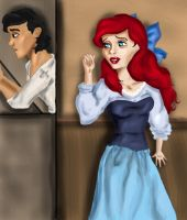 Ariel and Erik... If only by Mize-meow